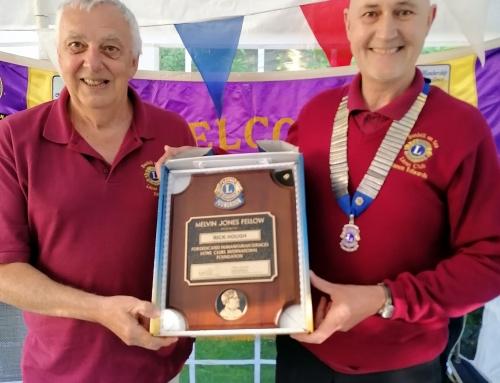Lion Rick Receives Major Service Award